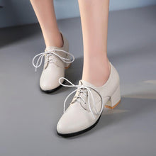 Load image into Gallery viewer, Leisure Round-heeled Lace Up Oxford Shoes