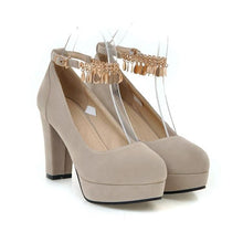 Load image into Gallery viewer, Woman's Platform Pumps Super High Heeled Large Size