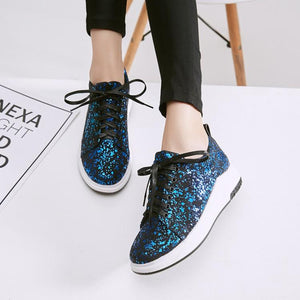 Girls Woman's Sequins Casual Flat Shoes