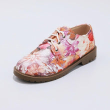 Load image into Gallery viewer, Woman Lace Up Floral Printed Princess Shoes