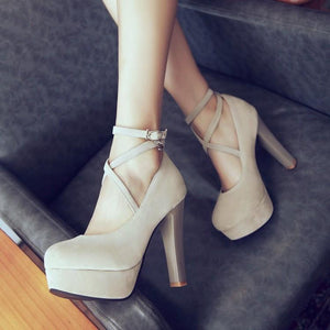 Super High Heeled Shallow Mouth Platform Pumps
