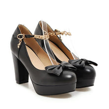 Load image into Gallery viewer, Sweet Butterfly Knot High-heel Platform Pumps