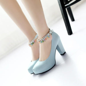 Woman's Platform Pumps Rough High Heeled s