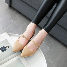 Load image into Gallery viewer, Pointed Toe Pumps Shallow Mouth Stiletto Heel Mid Heel Woman Shoes