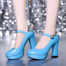 Load image into Gallery viewer, Woman's Ankle Straps Platform Pumps High-heel