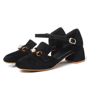 Woman's Pumps High Heeled Suede