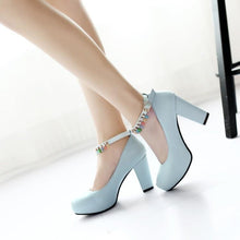 Load image into Gallery viewer, Woman's Platform Pumps Rough High Heeled s