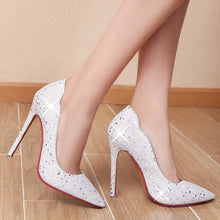 Load image into Gallery viewer, Sexy Super Stiletto Heel  Sequins Stiletto Wedding Shoes
