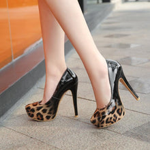 Load image into Gallery viewer, Super Stiletto Heel  Nightclub Platform Pumps