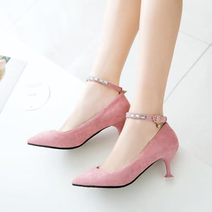 Pointed Toe Rhinestone High Heel Women Pumps
