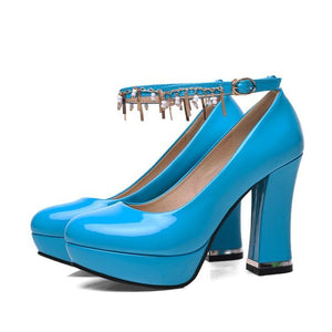 Woman's Pumps High-heel Platform Buckles