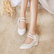 Load image into Gallery viewer, Casual Women's Sweet Bow Platform Wedges Shoes