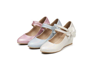 Casual Women's Sweet Bow Platform Wedges Shoes