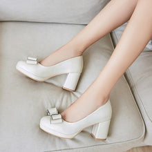 Load image into Gallery viewer, Sweet Butterfly Knot Platform Pumps High Heels