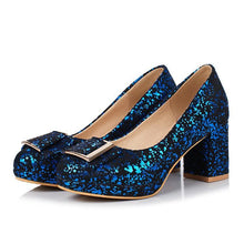 Load image into Gallery viewer, Woman's Pumps High Heeled Sequins Wedding Shoes