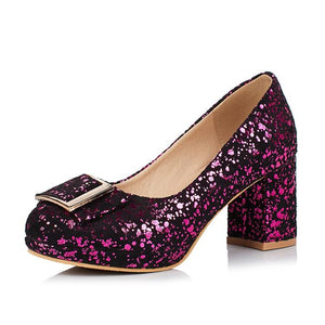 Woman's Pumps High Heeled Sequins Wedding Shoes