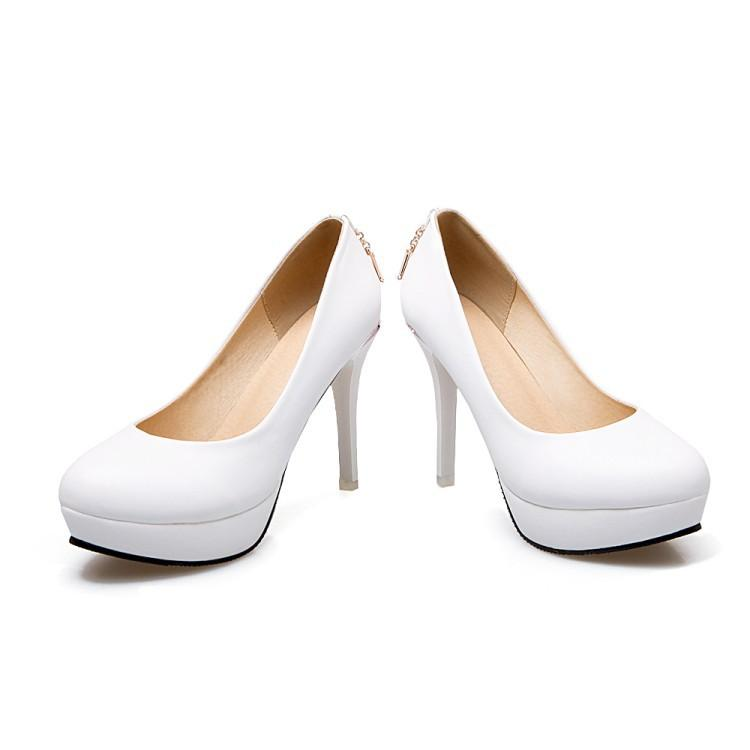 Super Stiletto Heel  Platform Pumps