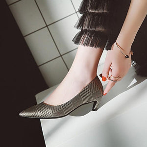 Pointed Toe Thin Heel Shallow Woman Pumps Stiletto Mid Heel Shoes
