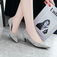 Load image into Gallery viewer, Pointed Toe Thin Heel Shallow Woman Pumps Stiletto Mid Heel Shoes