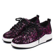 Load image into Gallery viewer, Girls Woman's Sequins Casual Flat Shoes