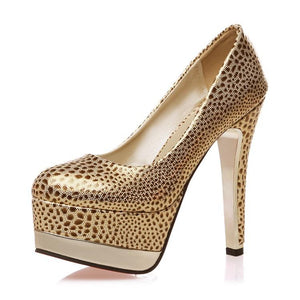 Sexy Thin Heel Super High Heel Shallow Mouth Platform Bride Shoes Women Pumps