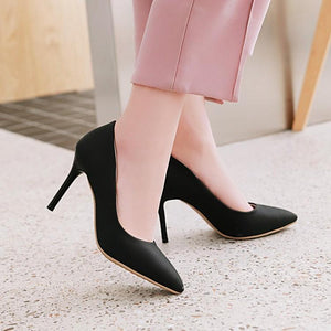 Sexy Pointed Toe Stiletto Heel  Shallow Mouth Pumps