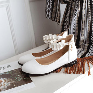 Woman Low Heeled Princess Shoes