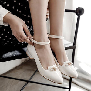 Woman Light-mouth Buckle Princess Shoes