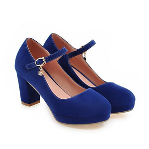 Women's Ankle Strap High Heeled Pumps
