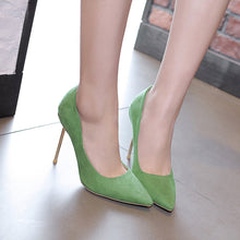 Load image into Gallery viewer, Women Pointed Toe Wedding Shoes Stiletto Heel Pumps