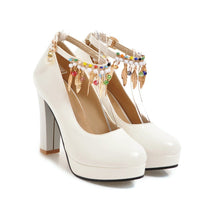 Load image into Gallery viewer, Women's Super High Heeled Buckle Platform Pumps