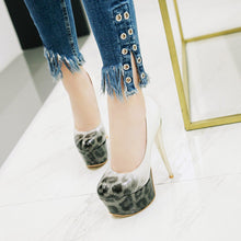 Load image into Gallery viewer, Women's Night Club Leopard-print High Heel Platform Pumps