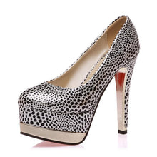 Load image into Gallery viewer, Sexy Thin Heel Super High Heel Shallow Mouth Platform Bride Shoes Women Pumps