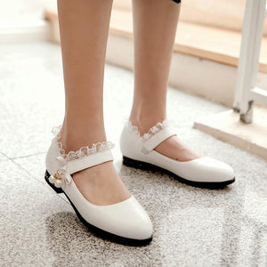 Woman Low Heels Princess Shoes