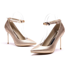 Load image into Gallery viewer, Buckle Super Stiletto Heel  Sharp Heel Shallow Mouth Stiletto Pumps
