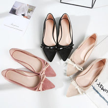 Load image into Gallery viewer, Girls Woman's Sweet Bow Flat Shoes