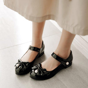 Woman Casual Low Heel Princess Shoes