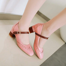 Load image into Gallery viewer, Autumn Mary Janes Thick-Heeleded Buckle Middle Heeleded Women Pumps