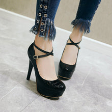 Load image into Gallery viewer, Stiletto Super High Heels Shallow Mouth Platform Pumps Large Size