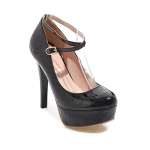 Stiletto Super High Heels Shallow Mouth Platform Pumps Large Size