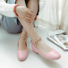 Load image into Gallery viewer, Woman Trend Rhinestone Low Heeled Princess Shoes