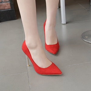 Women Pointed Toe Wedding Shoes Stiletto Heel Pumps