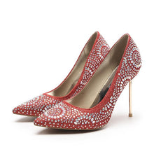 Load image into Gallery viewer, Super Stiletto Heel  Rhinestone Bride Shoes