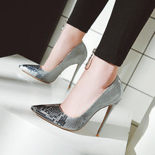 Load image into Gallery viewer, Super Stiletto Heel  Serpentine Shallow Mouth Stiletto Pumps