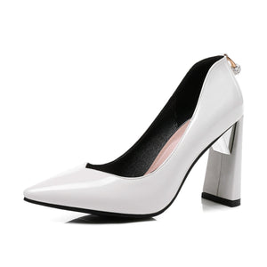Pointed Toe High Heeleds Pumps Bride Shoes