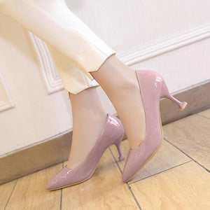 Women's Shallow Mouth High Heeled Stiletto Pumps