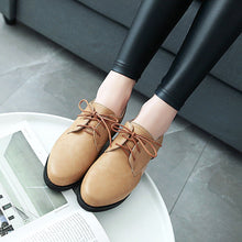 Load image into Gallery viewer, Woman's Lace Up Low Heels Shoes