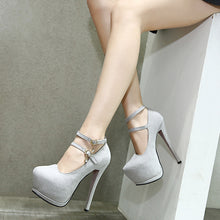 Load image into Gallery viewer, Strappy Super High-heeled Platform Pumps Suede Women Shoes