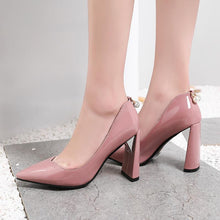 Load image into Gallery viewer, Pointed Toe High Heeleds Pumps Bride Shoes
