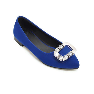 Woman's Shallow Mouth Low Heeled Chunky Pumps Shoes